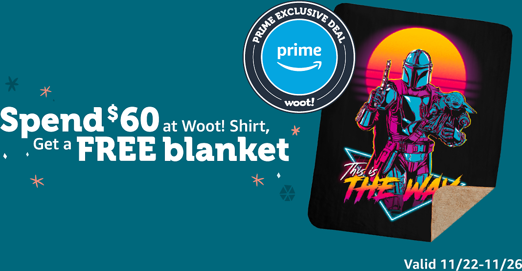 Prime Exclusive! Spend $60 On Shirts, Get a Free Blanket (11/22-11/26)