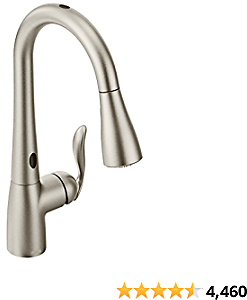 Moen 7594ESRS Arbor Menotionsense Tsor Touchless One-Handle Pulldown Kitchen Faucet Featuring Power Clean, Spot Resist Stainless