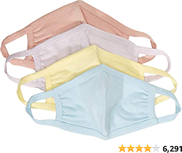 67% off for Quality Durables Unisex Adult and Kids 4-Pack Washable Reusable Face Mask