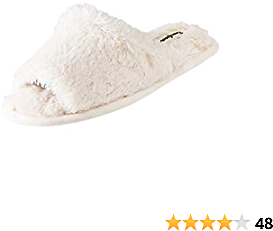 Dearfoams Women's Cindy Furry Slide Slipper