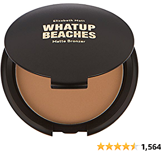Fine, Lightweight Bronzer Powder for Face: Elizabeth Mott Whatup Beaches Facial Bronzing Powder for Contouring and Sun Kissed Coverage - Cruelty Free Makeup and Cosmetic Products - Matte,10g