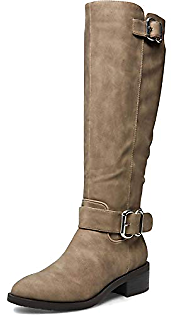 Madden Girl Womens Wit Faux Leather Tall Riding Boots Taupe 5 Medium (B,M)