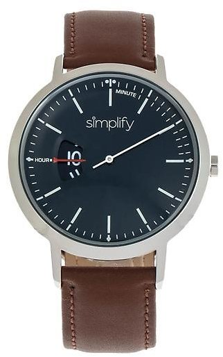 Simplify 6500 Men's Leather Band Watch
