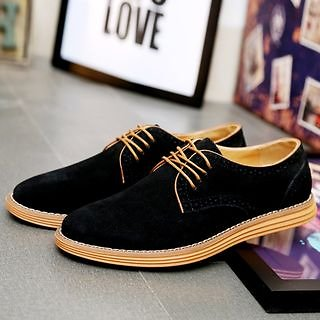 Taragan - Faux Suede Oxfords