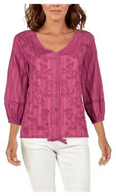 Bob Timberlake Embroidered Three-Quarter-Sleeve Blouse for Ladies | Bass Pro Shops