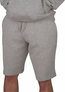 More Mile Mens Sweat Shorts Grey Brushed Fleece Casual Leisure Gym Workout Short
