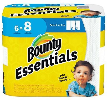 $4.99 Bounty & Charmin Essentials Paper Products