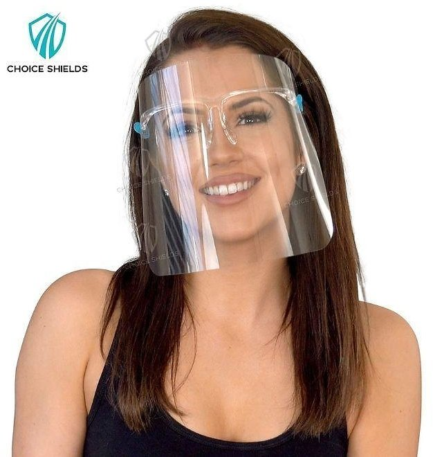 Face Shields with Comfort Fit Glasses (10-100 Pack)