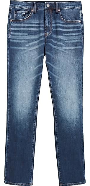 Collection By Michael Strahan Williamsburg Dark Blue Wash Straight Fit Jeans - Men's Pants | Men's Wearhouse