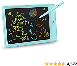 KOKODI LCD Best Writing Tablet, 10 Inch Colorful Toddler Doodle Board Drawing Tablet, Erasable Reusable Electronic Drawing Pads