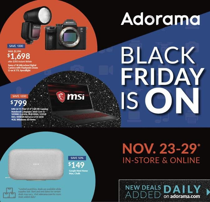 Adorama Black Friday Start Now!