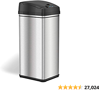 ITouchless 13 Gallon Stainless Steel Automatic Trash Can 2020