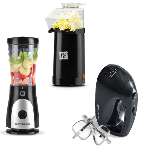 3 Toastmaster Small Appliances (Mixer, Blender, and Popcorn Popper)