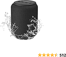 Bluetooth Speakers, Tronsmart T6 Mini 15W Ultra Portable Speaker with 24 Hours Playtime, Good Bass, IPX6 Waterproof, Bluetooth 5.0, Wireless Stereo Pairing, Voice Assistant, Built-in Microphone, Alexa