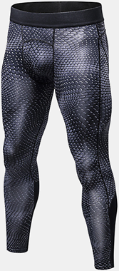 PRO Fitness Quick Dry Stretch Tights Running Trousers Men's Casual 3D Printed Pants ActivewearfromMen's Clothingon Banggood.com