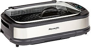 Smokeless Indoor Grill With Hinged Glass Lid