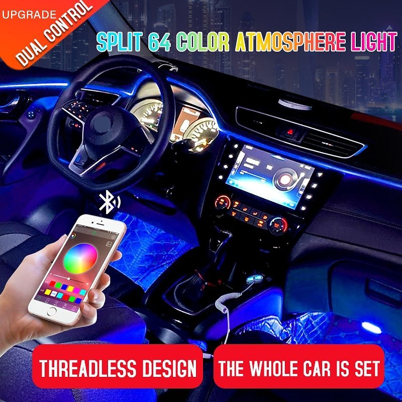 US $48.99 30% OFF|Led Car Interior Ambient Atmosphere Mood Light Rgb App Remote Control Backlight Auto Foot Center Console Door Decorative Lights|Decorative Lamp| - AliExpress