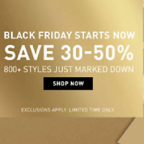 30-50% Off Black Friday Starts Now (11/23) -(11/29)