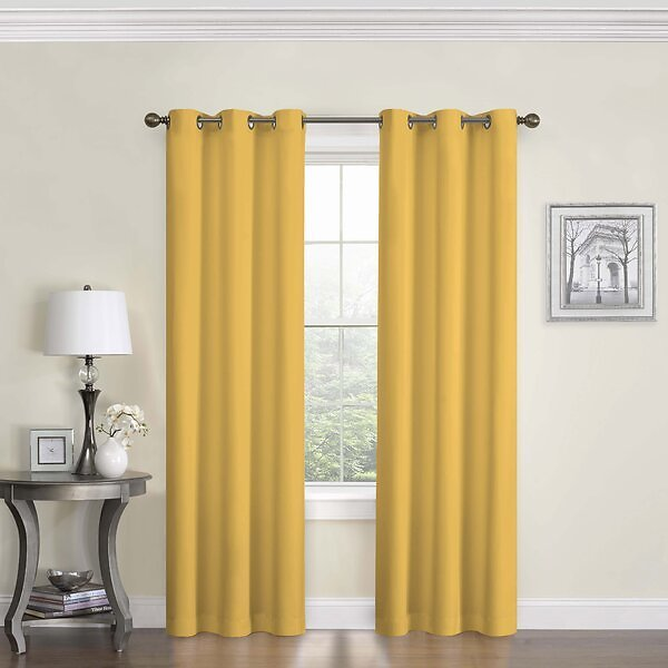 SALE 40% OFF ON Horence Solid Blackout Thermal Grommet Single Curtain Panel