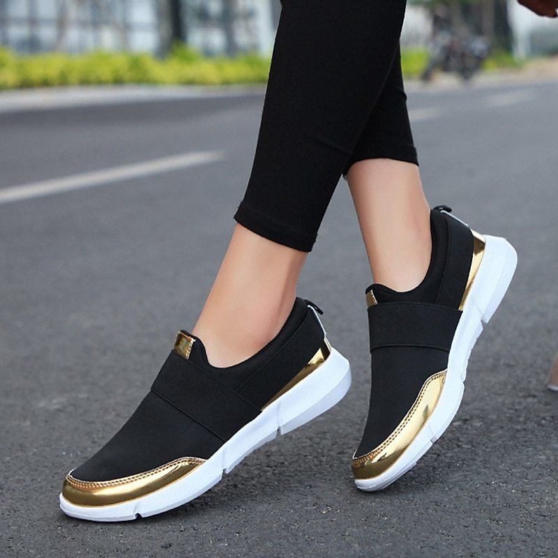 US $11.47 50% OFF|Women Slip On Loafers Ladies Casual Comfort Flats Shoes Female Breathable Stretch Cloth Fashion Walking Sneakers For Woman|Women's Flats| - AliExpress