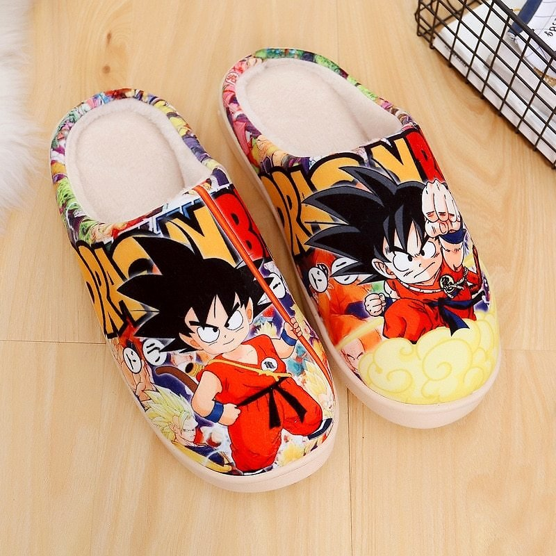US $17.73 31% OFF|Anime Dragon Ball Z Son Goku Shoes Cosplay Men Women Soft Plush Antiskid Indoor Home Slippers|Shoes| - AliExpress