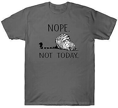 Nope Not Today Funny Lazy Cat Kitten Men's T-Shirt Cat Lover Cotton Tee Gift