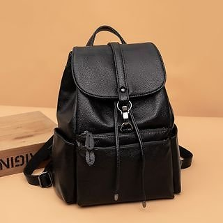 AGLORE - Faux Leather Backpack