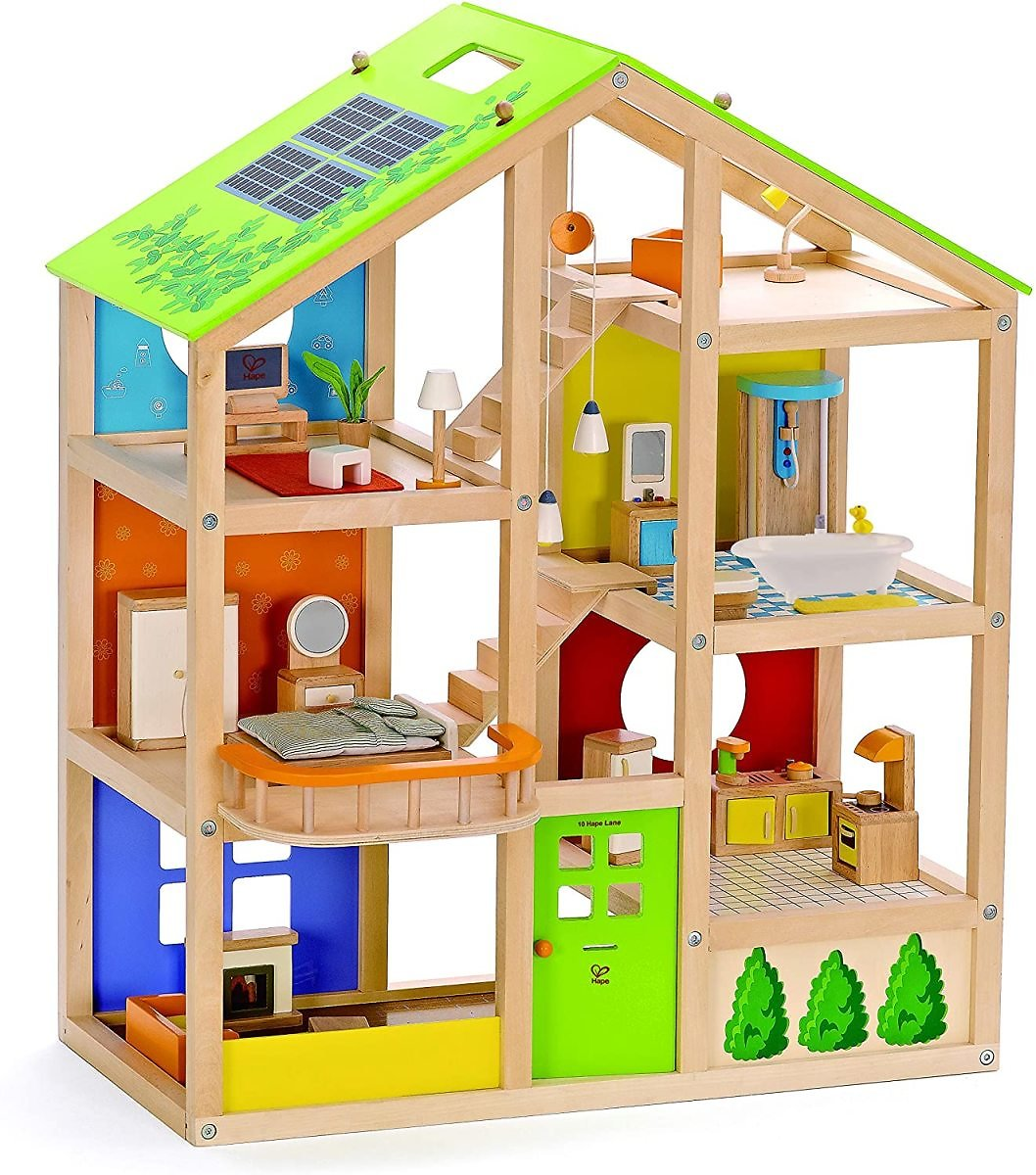 All Seasons Kids Wooden Dollhouse By Hape