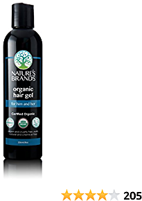 Organic Hair Gel By Herbal Choice Mari (8 Fl Oz Bottle) - No Toxic Synthetic Chemicals