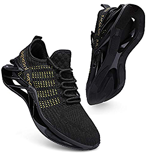 Incarpo Men's Running Shoes Non Slip Walking Athletic Shoes Breathable Blade Sneakers
