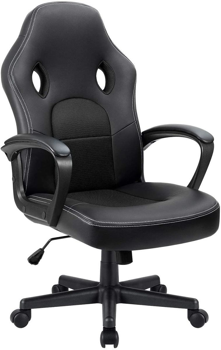 15% Off Furmax Office Desk Leather Gaming, High Back Ergonomic Adjustable Racing Task Swivel Executive Computer Chair Headrest