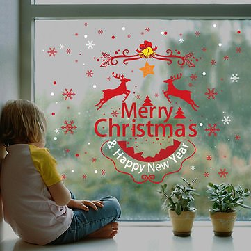 Miico XL830 Christmas Sticker Home Decoration Sticker Window and Wall Sticker Shop Decorative Stickers Festival Gifts & Party Supplies from Home and Garden on Banggood.com