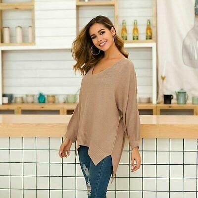Tops Knitted Knit Shirt Casual Sweater Womens Long Sleeve Knitwear Pullover