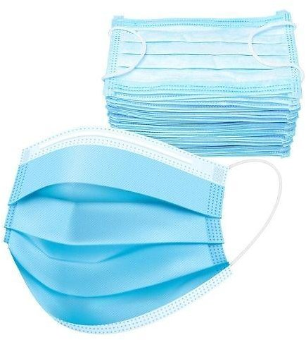 3-Ply Disposable Face Masks with Elastic Ear Loop