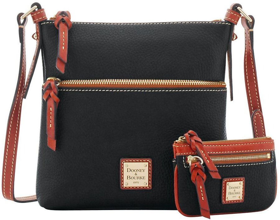 Dooney & Bourke Pebble Grain Letter Carrier And Small Coin Case
