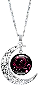 Loinrodi 12 Constellation Moon Necklace Gifts for Mom Present for Women for Girls Gifts