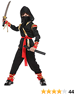 Spooktacular Creations Boys Ninja Deluxe Costume for Kids Halloween Cosplay Costumes (Kids - 5T) Mask Not Included