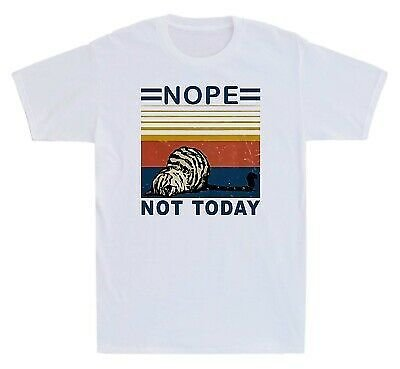 Lazy Cat Nope Not Today Men's T-Shirt Graphic Gift Short Sleeve Tee