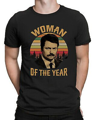 Woman of The Year Swanson Parks and Recreation Vintage Retro Men's T-Shirt