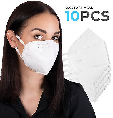 KN95 Protective Medical Face Mask - BFE 95% PM2.5 - Disposable Respirator - 10pc