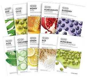 THE FACE SHOP - Real Nature Face Mask 1pc (20 Types) 20g