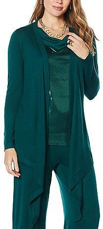 IMAN Global Chic Touch of Cashmere Convertible Cardigan - 9663569 | HSN