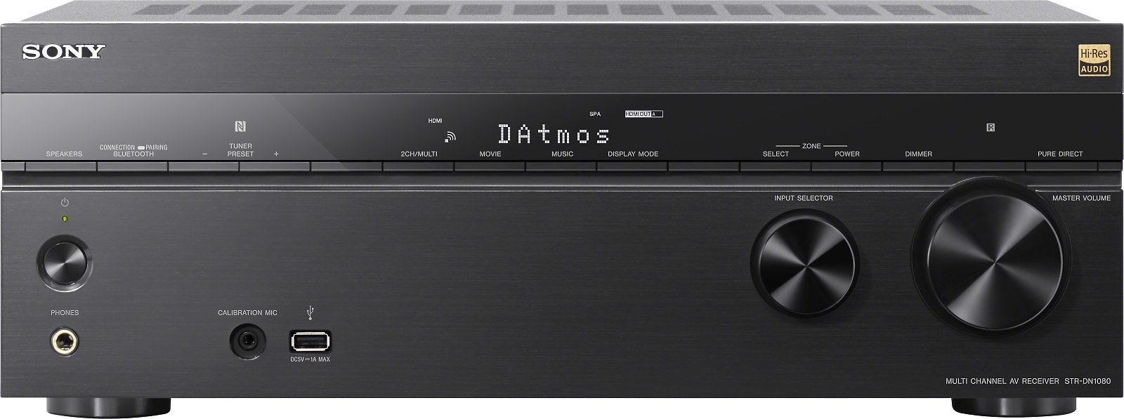 Sony STR-DN1080 7.2-channel Home Theater Receiver with Wi-Fi®, Bluetooth®, Dolby Atmos®, and DTS:X At Crutchfield