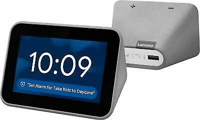 Lenovo - Smart Clock with Google Assistant - Gray 193268827462