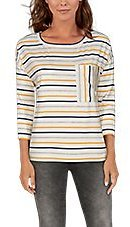Natural Reflections Colorblock Stripe Long-Sleeve Sweatshirt for Ladies | Bass Pro Shops
