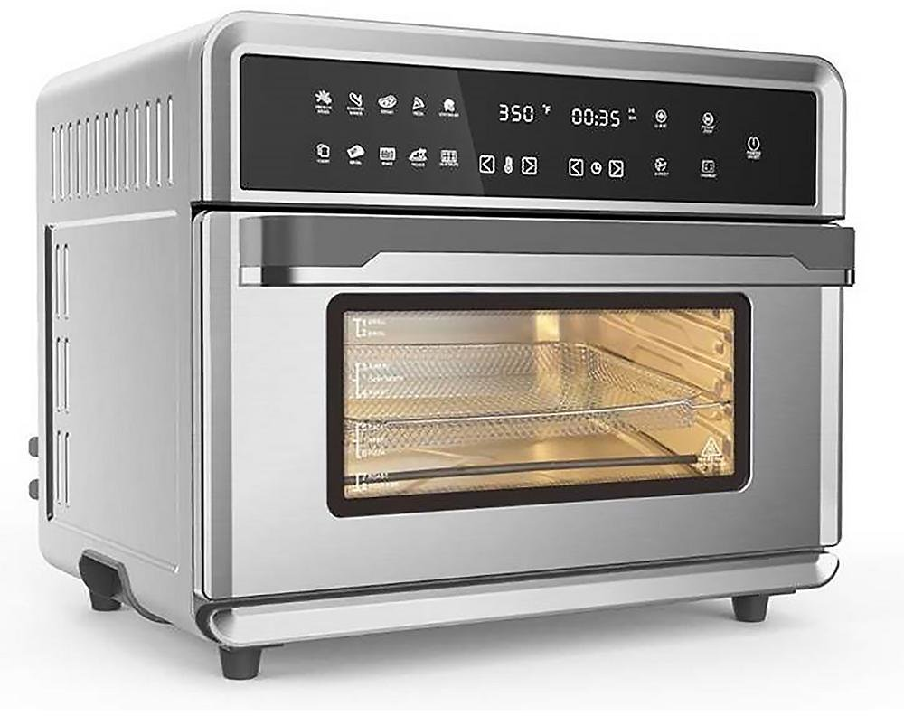 ARIA 30Qt Touchscreen Air Fryer Toaster Oven with 3 Cooking Levels, Dehydration, Accessories, & Recipe Book-ATO-898