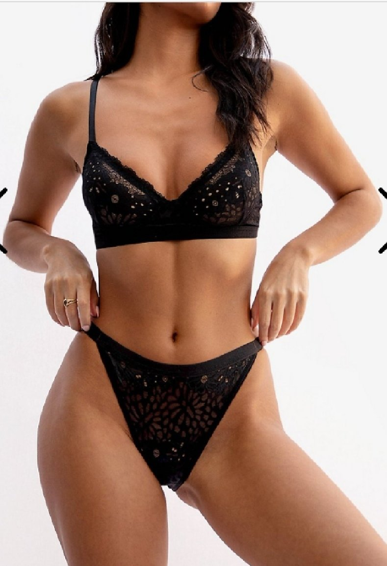 Lace Stay Home Bralette and Panty Set | Nasty Gal
