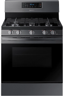 5.8 Cu. Ft. Freestanding Gas Range with Convection in Black Stainless Steel Range - NX58R4311SG/AA | Samsung US