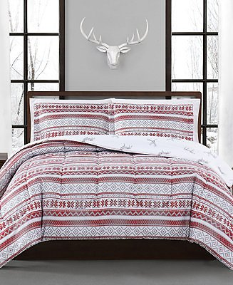 Pem America Holiday Fair Isle 2-Pc. Reversible Twin Comforter Set, Created for Macy's & Reviews - Bed in a Bag - Bed & Bath