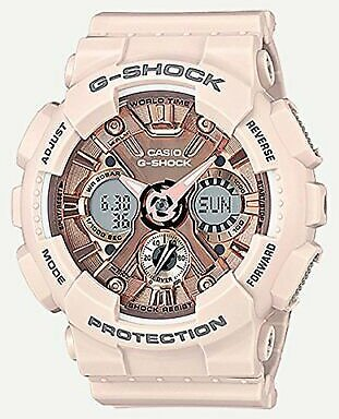 Casio G-Shock Quartz Movement Rose Gold Dial Ladies Watches GMAS120MF-4A 889232144870
